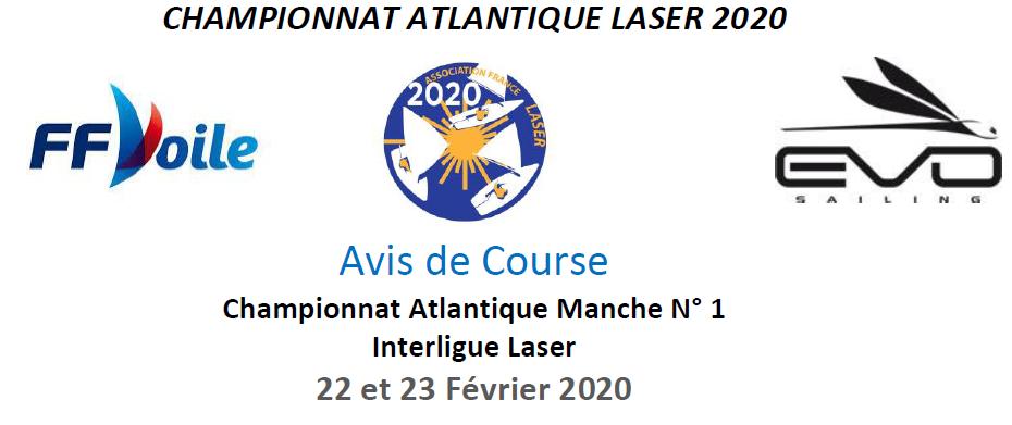 L'avis de course de l'interligue laser du 22-23 février 2020 est en ligne
